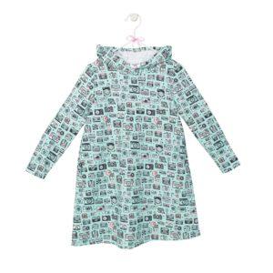 sukienka z kapturem wzór 5