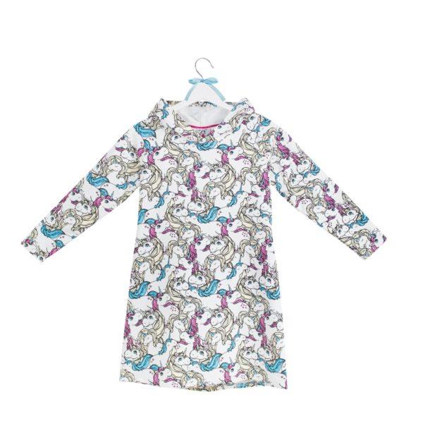 sukienka z kapturem wzór 14