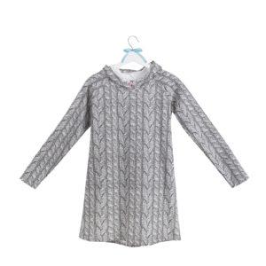 sukienka z kapturem wzór 18