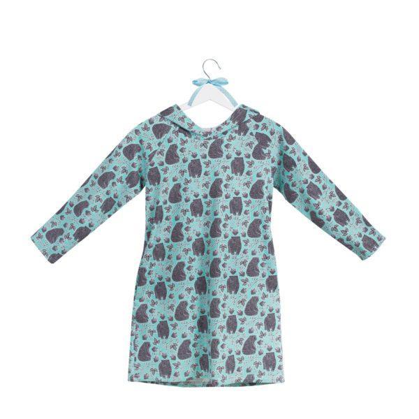 sukienka z kapturem wzór 25
